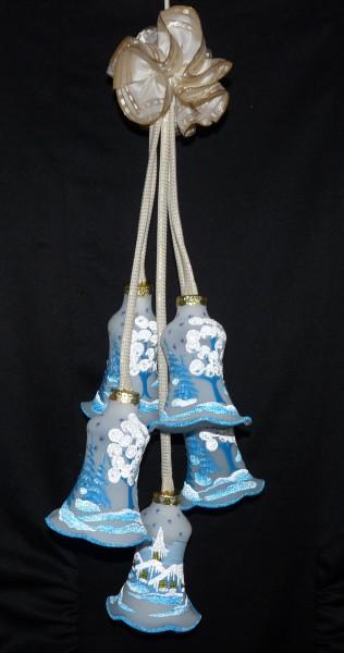 """Leuchtgehänge Kelche 5-teilig """"Delft"""" blau"""