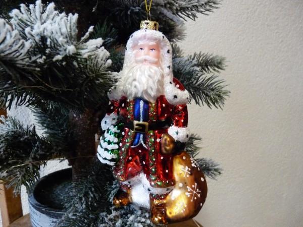 Weihnachtsmann 15 cm dekoriert